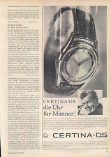 Certina-DS-Automatic-1960-Reklame-Werbung-vintage print ad-Vintage Publicidad