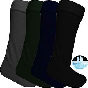 New Mens Fleece Wellie Socks Wellington Boot Liners Welly Warmers Warm Dry UK