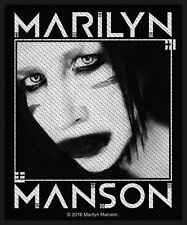 MARILYN MANSON - Villain  - WOVEN SEW ON PATCH - free shipping