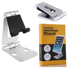 Adjustable Phone Holder Foldable Tablet Stand Portable Aluminum Dock Silver