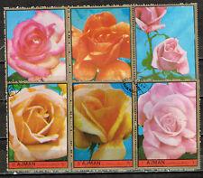 Ajman Flowers Roses set 1967