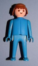 Playmobil 1974 Klicky Man Classic Style Brown Hair Blue Clothes 33 Playsets
