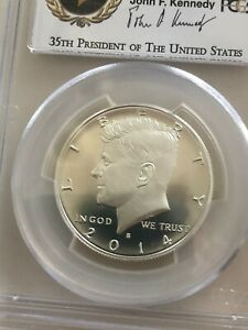 2014 S Kennedy Silver 50C PCGS MS69 PL 50th Anniversary Enhanced Uncirculated