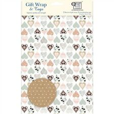 Gift Wrap & Tags - Collage Hearts Pattern (2 Sheets+Tags)
