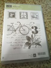 Postage Due: Stampin' Up 4pc Unmounted Rubber Stamp Kit New