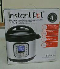 Instant Pot Nova Plus 6 Qt 9-In-1 Multi-Use Pressure Cooker Smart Programmable
