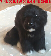 Realistic Black Dog Puppy Pet Plush, Simulation Stuffed Animal Cuddly Doll Toy