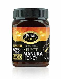 New Zealand Pure Gold Premium Select Manuka Honey 525+ Mgo 500g Active Honey