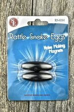 """New 2pc Buzzing Stunt Oval Magnets Noise Making Rattlesnake Eggs 1-3/4"""" x 5/8"""""""