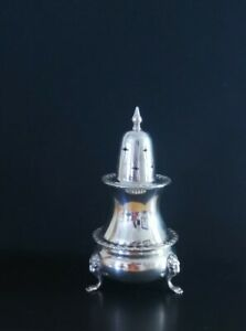 Vintage Silver Plate Sugar Sifter Lion Paw feet