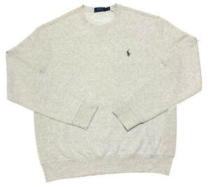 Ralph Lauren Mens Jumper Crew-neck Sweatshirt Andover Heather Fleece SP, M, XL