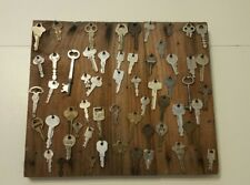 VTG lot of about 50 Keys Hooked by Nails on a Hanging Wood Board Pinterest