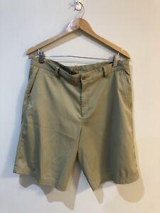 Nike Dri Fit Mens Khaki Golf Shorts Size 34