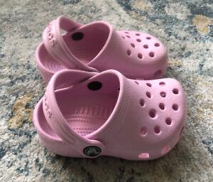 CROCS Clog Baby / Infant Toddler Pink Size 2 / 3