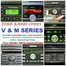 100% WORKS FOR M and V SERIES CD MUSIC PLAYER MP3 WMA FORD RADIO CODE SERVICE