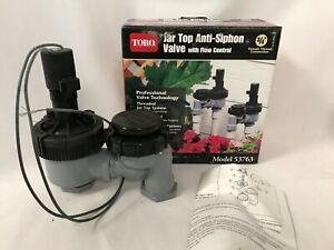 "3 Toro 3/4"" Jar Top Anti-Siphon Valve Flow Control 53763 Lawn Yard Sprinkler Pt"
