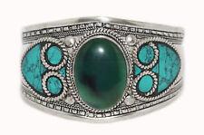 Quartz Bracelet Cuff Bracelet Silver Bracelet Boho Bracelet Turquoise Bracelet