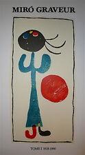 Joan MIRO Affiche en Lithographie art abstrait abstraction Mourlot Imp