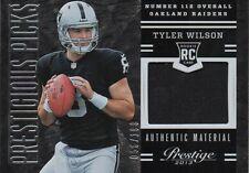 2013 Prestige Prestigious Picks Rookie Jersey Tyler Wilson Raiders RC 23 56/199