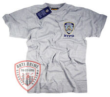 NYPD Shirt Embroidered Gray T-Shirt Gear Gifts Merchandise Womens Mens Apparel