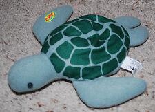 "Flipper Baby Sea Turtle Plush Beanie / Bath Toy 1996 Toy Biz Inc Vintage 10""x8"""