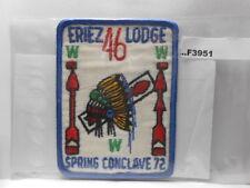 ERIEZ LODGE 46 SPRING CONCLAVE 72 F3941