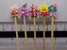1:12 Hand Made Little People  X 5 On A Stick Dolls House Miniature Nursery Toy