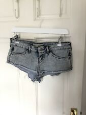 Topshop Moto Denim Shorts Size 10 Hotpants