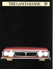 LANCIA DELTA, TREVI, COUPE, 2000IE, HPE, GAMMA AND MONTE CARLO BROCHURE JAN.1983