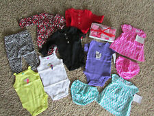 NEW LOT /17 BABY GIRL CLOTHING CARTERS  SETS OUTFITS 3 MONTH SUMMER MIX FREE SHP