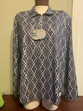 NWT Bette & Court Cool Elements Pick Color Ladies XXL Long sleeve Golf top 2XL