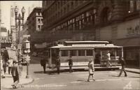 San Francisco Powell & Market St. Cable Car Turn Real Photo Postcard #1