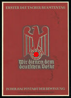 1937 Germany 3rd Reich Postcard German Hitler Official Civil Service Munich