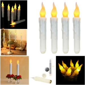 LED Fake Flame Taper Flickering Battery Operated Candles Light Party Decoration