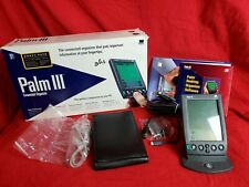3Com Palm III PDA Stylus Sync Cable Cradle Software Manuals In Original Box
