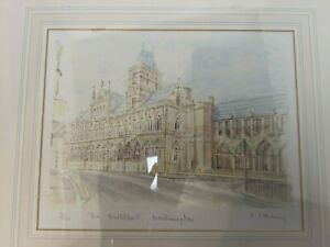 Northampton Guildhall Framed Signed Watercolour Limited Print by P. Stenning