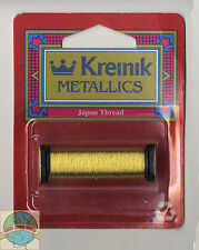 Kreinik Metallic Thread - 44Yd Spool of #002J Japan Gold SF #1 Braid