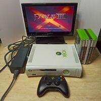 Microsoft Xbox 360 Pro 20GB Console Bundle w/6 games Controller Power/AV Cables
