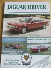 JAGUAR DRIVER MAGAZINE NOV 1996 BRIDGESTONE CHALLENGE PORTER IN FRANCE SOVEREIGN