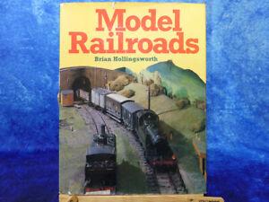MODEL RAILROADS by Brian Hollingsworth HB Book   Miniature Railways Trains 1981