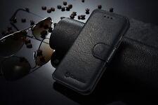 For Apple iPhone 6-  Leather  Case Genuine Flip- Black