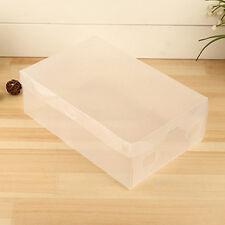 1pc/set Transparent Plastic Clear Shoe Boxes Storage Shoe Box Organiser for home