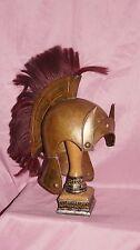 Hollywood Greek Roman Alexander the Great brass armor helmet movie prop costume