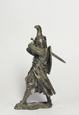 Tin soldier. German knight with sword XII century 54mm