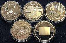 Komplettsatz 5 x 10 Euro Gedenkmünzen Ausgabe 2002 Spiegelglanz PP Silber 925/-