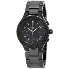 DKNY Chambers Multi-Function Black Dial Black Ceramic Ladies Watch NY2226