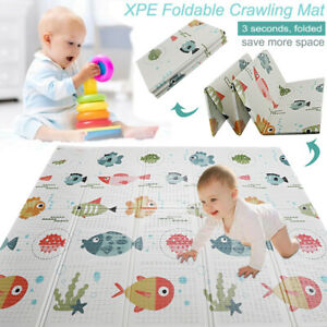 Baby Crawling Mat Play mat Large Waterproof Kid Play Mat Foldable Double Sided