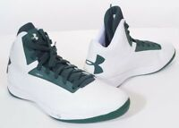Under Armour TB Micro G Torch Men's Basketball Sneakers Shoes White Green 18