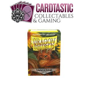 Dragon Shield Tangerine Matte Standard 100 Card Sleeves