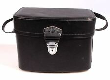 CAMERA BAG VINTAGE BLACK W/ SHOULDER STRAP (9.5x4x7)